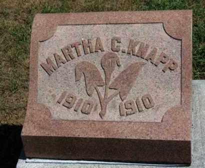 KNAPP, MARTHA C. - Erie County, Ohio   MARTHA C. KNAPP - Ohio Gravestone Photos