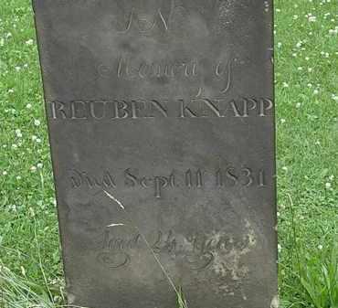 KNAPP, REUBEN - Erie County, Ohio | REUBEN KNAPP - Ohio Gravestone Photos