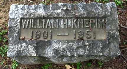 KNERIM, WILLIAM H. - Erie County, Ohio   WILLIAM H. KNERIM - Ohio Gravestone Photos