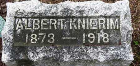 KNIERIM, ALBERT - Erie County, Ohio | ALBERT KNIERIM - Ohio Gravestone Photos