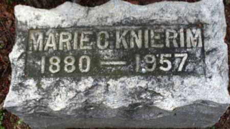 KNIERMIM, MARIE C. - Erie County, Ohio | MARIE C. KNIERMIM - Ohio Gravestone Photos
