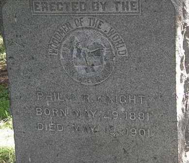KNIGHT, PHILIP R. - Erie County, Ohio | PHILIP R. KNIGHT - Ohio Gravestone Photos