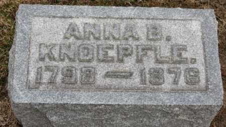 KNOEPFLE, ANNA B. - Erie County, Ohio | ANNA B. KNOEPFLE - Ohio Gravestone Photos