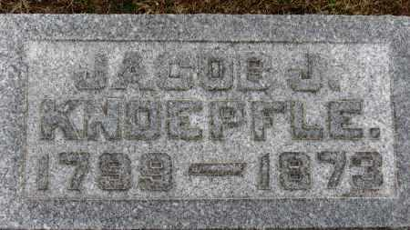 KNOEPFLE, JACOB J. - Erie County, Ohio | JACOB J. KNOEPFLE - Ohio Gravestone Photos