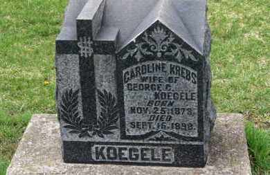 KREBS KOEGELE, CAROLINE - Erie County, Ohio | CAROLINE KREBS KOEGELE - Ohio Gravestone Photos