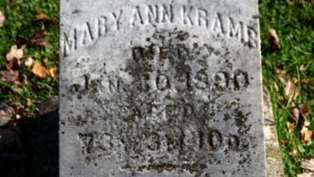 KRAMS, MARY ANN - Erie County, Ohio | MARY ANN KRAMS - Ohio Gravestone Photos