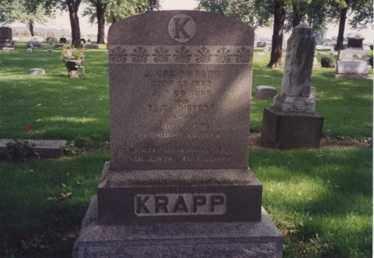 KRAPP, ELIZA - Erie County, Ohio | ELIZA KRAPP - Ohio Gravestone Photos