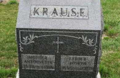 KRAUSE, JOSEPH - Erie County, Ohio | JOSEPH KRAUSE - Ohio Gravestone Photos