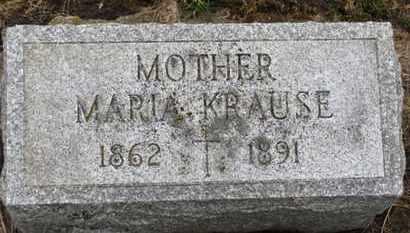 KRAUSE, MARIA - Erie County, Ohio | MARIA KRAUSE - Ohio Gravestone Photos