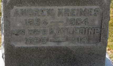 KREIMES, KATHERINE - Erie County, Ohio | KATHERINE KREIMES - Ohio Gravestone Photos