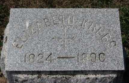 KREBS, ELIZABETH - Erie County, Ohio   ELIZABETH KREBS - Ohio Gravestone Photos