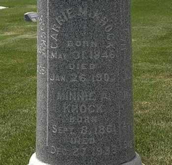 KROCK, CARRIE M. - Erie County, Ohio | CARRIE M. KROCK - Ohio Gravestone Photos