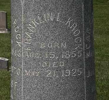 KROCK, FRANKLIN L. - Erie County, Ohio | FRANKLIN L. KROCK - Ohio Gravestone Photos