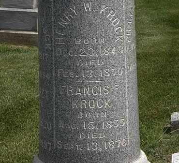 KROCK, HENRY W. - Erie County, Ohio | HENRY W. KROCK - Ohio Gravestone Photos