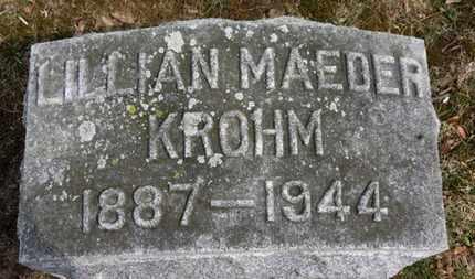KROHM, LILLIAN - Erie County, Ohio | LILLIAN KROHM - Ohio Gravestone Photos