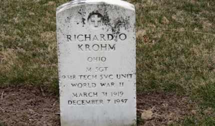 KROHM, RICHARD O. - Erie County, Ohio | RICHARD O. KROHM - Ohio Gravestone Photos