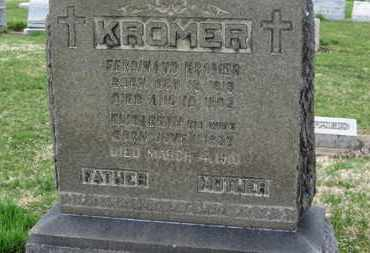 KROMER, FERDINAND - Erie County, Ohio | FERDINAND KROMER - Ohio Gravestone Photos