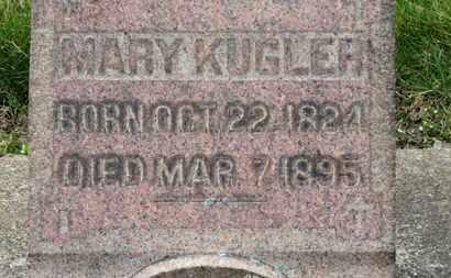 KUGLER, MARY - Erie County, Ohio | MARY KUGLER - Ohio Gravestone Photos