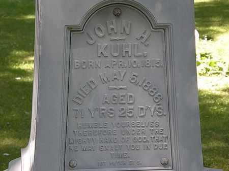 KUHL, JOHN H. - Erie County, Ohio | JOHN H. KUHL - Ohio Gravestone Photos