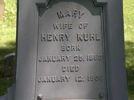 KUHL, MARY - Erie County, Ohio | MARY KUHL - Ohio Gravestone Photos