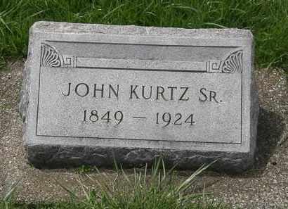 KURTZ, JOHN SR. - Erie County, Ohio   JOHN SR. KURTZ - Ohio Gravestone Photos