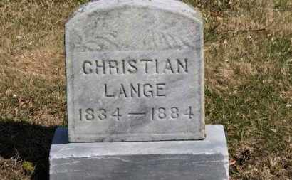 LANGE, CHRISTIAN - Erie County, Ohio | CHRISTIAN LANGE - Ohio Gravestone Photos