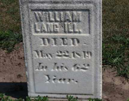 LANGWELL, WILLIAM - Erie County, Ohio | WILLIAM LANGWELL - Ohio Gravestone Photos