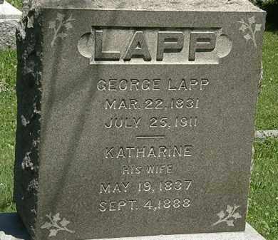 LAPP, GEORGE - Erie County, Ohio | GEORGE LAPP - Ohio Gravestone Photos