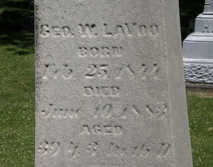 LAVOO, GEORGE W. - Erie County, Ohio | GEORGE W. LAVOO - Ohio Gravestone Photos