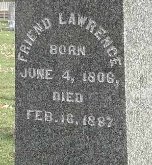 LAWRENCE, FRIEND - Erie County, Ohio | FRIEND LAWRENCE - Ohio Gravestone Photos