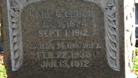 LEBER, KARL G. - Erie County, Ohio | KARL G. LEBER - Ohio Gravestone Photos