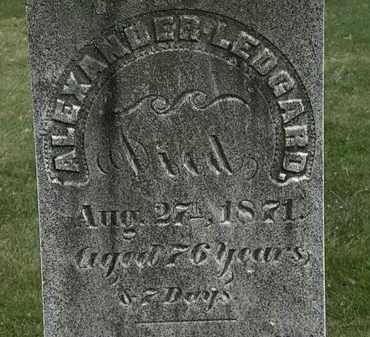 LEDGARD, ALEXANDER - Erie County, Ohio | ALEXANDER LEDGARD - Ohio Gravestone Photos
