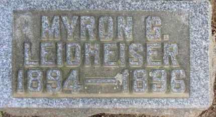 LEIDHEISER, MYRON G. - Erie County, Ohio | MYRON G. LEIDHEISER - Ohio Gravestone Photos