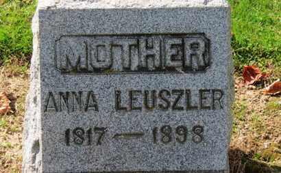 LEUSZLER, ANNA - Erie County, Ohio | ANNA LEUSZLER - Ohio Gravestone Photos
