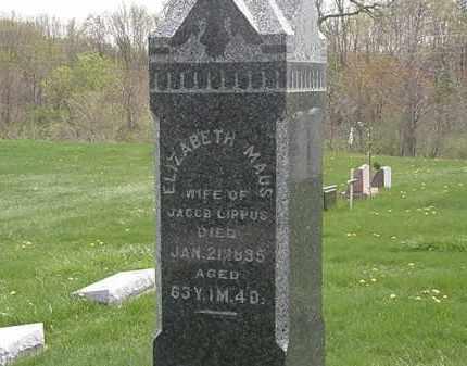 MAUS LIPPUS, ELIZABETH - Erie County, Ohio | ELIZABETH MAUS LIPPUS - Ohio Gravestone Photos