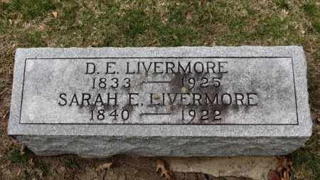 LIVERMORE, D.E. - Erie County, Ohio | D.E. LIVERMORE - Ohio Gravestone Photos