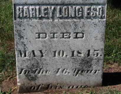 LONG, HARLEY - Erie County, Ohio | HARLEY LONG - Ohio Gravestone Photos