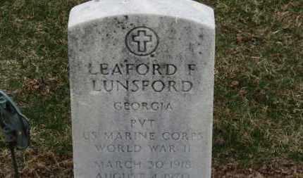 LUNSFORD, LEAFORD F. - Erie County, Ohio | LEAFORD F. LUNSFORD - Ohio Gravestone Photos