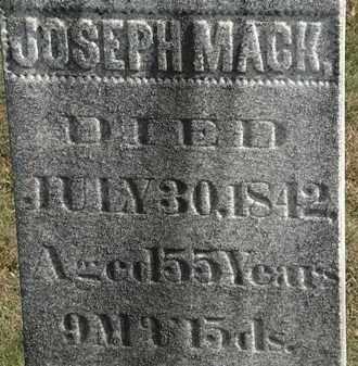 MACK, JOSEPH - Erie County, Ohio   JOSEPH MACK - Ohio Gravestone Photos
