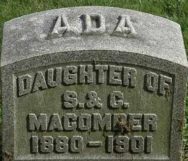 MACOMBER, ADA - Erie County, Ohio | ADA MACOMBER - Ohio Gravestone Photos