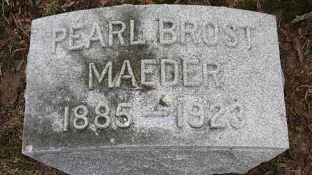 BROST MAEDER, PEARL - Erie County, Ohio | PEARL BROST MAEDER - Ohio Gravestone Photos
