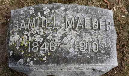 MAEDER, SAMUEL - Erie County, Ohio | SAMUEL MAEDER - Ohio Gravestone Photos
