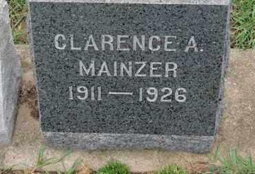 MAINZER, CLARENCE A. - Erie County, Ohio | CLARENCE A. MAINZER - Ohio Gravestone Photos
