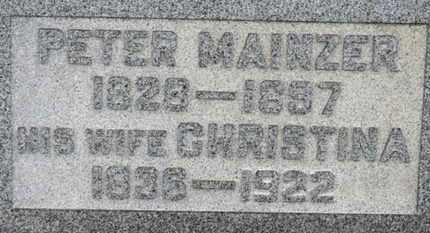 MAINZER, CHRISTINA - Erie County, Ohio   CHRISTINA MAINZER - Ohio Gravestone Photos