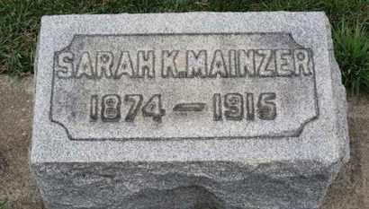 MAINZER, SARAH K. - Erie County, Ohio | SARAH K. MAINZER - Ohio Gravestone Photos