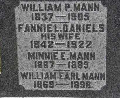 MANN, MINNIE E. - Erie County, Ohio | MINNIE E. MANN - Ohio Gravestone Photos