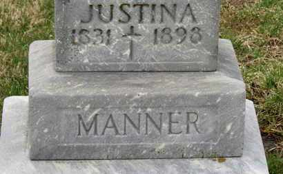 MANNER, JUSTINA - Erie County, Ohio | JUSTINA MANNER - Ohio Gravestone Photos