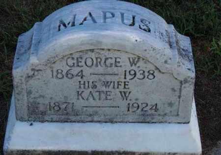 MAPUS, GEORGE W. - Erie County, Ohio | GEORGE W. MAPUS - Ohio Gravestone Photos