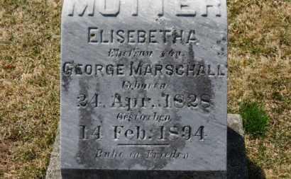 MARSCHALL, ELISEBETH A. - Erie County, Ohio   ELISEBETH A. MARSCHALL - Ohio Gravestone Photos