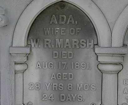 MARSH, ADA - Erie County, Ohio | ADA MARSH - Ohio Gravestone Photos